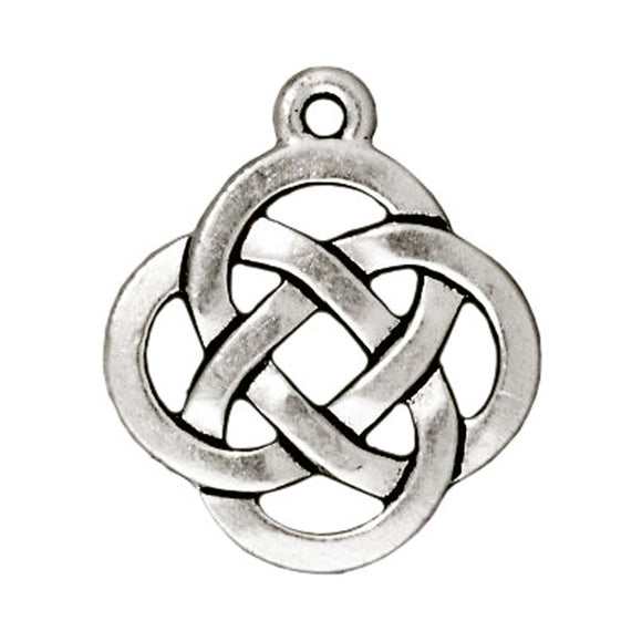 Silver Celtic Open Knot Charms