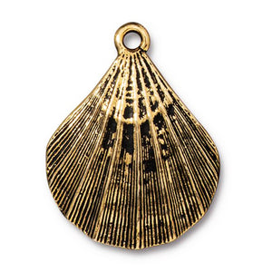 Gold Scallop Shell Pendants