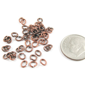 Copper Small Oval Jump Ring TierraCast 4x5mm (50 Pieces)