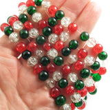 8mm Christmas Bead Mix in hand