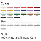 Griffin silk thread color and size chart