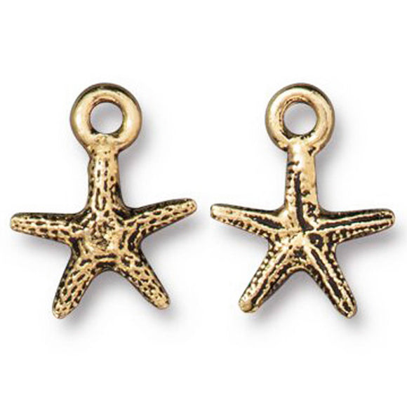 Gold Tiny Sea Star Charms
