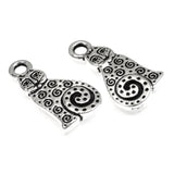 Silver Spiral Cat Charms, TierraCast Pewter Animal, Kitty 2/Pkg