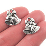 Silver Christmas Bell Charms, TierraCast Lead Free Pewter (2 Pieces)