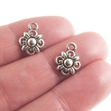 Silver Small Flower Charms