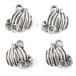 Silver Mini Pumpkin Charms
