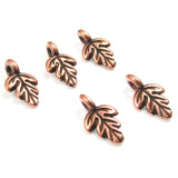 Copper Oak Leaf Charms