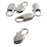 Large Oval Silver Stainless Steel Lobster Claw Clasps 7x18mm (5/Pkg)