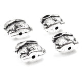 Silver Bunny Rabbit Beads, TierraCast Lead Free Pewter (4 Pieces)