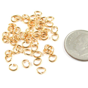 gold small oval jump rings