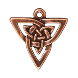 Copper Celtic Knot Triangle Pendants, TierraCast Pewter Charms 2/Pkg
