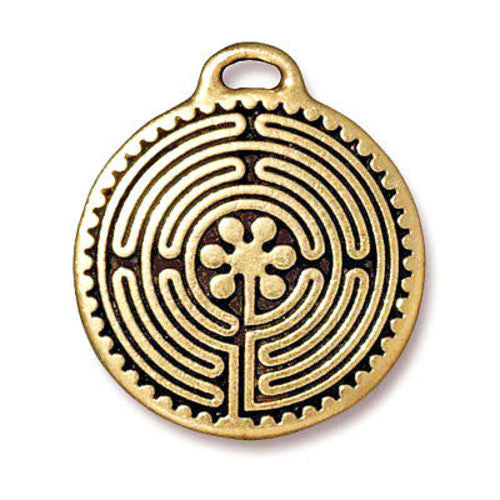 Gold Labyrinth Pendant