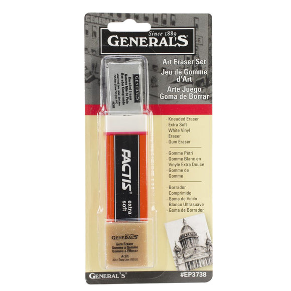 General Pencil Company Art Eraser Set, 3-Pack