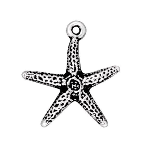 Silver Starfish Charms