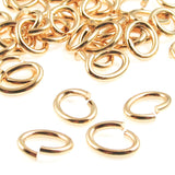 Bright Gold Heavy Duty Large Oval Jump Rings | TierraCast 17 Gauge (50 Pieces)
