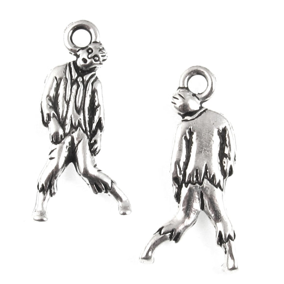 Silver Zombie Charms