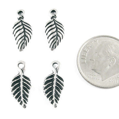 silver birch leaf charms