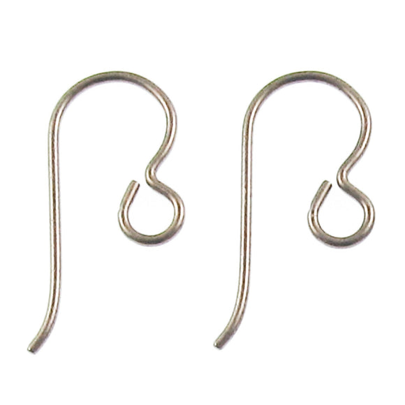 Antique Brass Niobium Ear Wires Regular Loop, Hypoallergenic (10 Pieces)