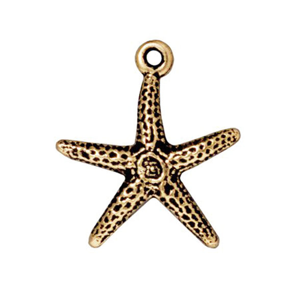 Gold Starfish Charms
