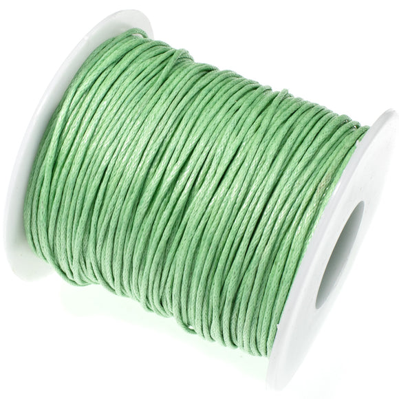 Light Green 1mm Waxed Cotton Cord, 70 Meters, Macrame, Beading String