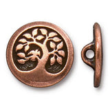 Copper Bird in a Tree Buttons