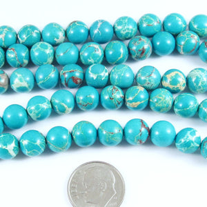 Aqua Blue Sea Sediment Beads