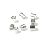 Silver Plated Crimp Tube Beads 2x2mm, TierraCast Findings (50 Pieces)