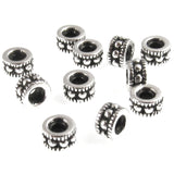 Silver Rococo 4mm Beads, TierraCast Pewter Dotted Spacers (25 Pieces)
