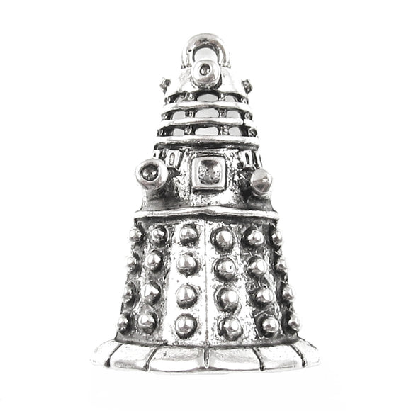 Silver Doctor Who Dalek Metal Charms, Dr. Who Pendant 19x30mm (4 Pieces)