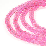 Bright Hot Pink 4mm Round Glass Crackle Beads, 200/Pkg