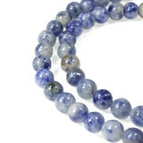 Denim Lapis 6mm Round Gemstone Beads, Blue Gray Stone, 60 Pcs/Strand