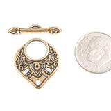 Gold Temple Toggle Clasp TierraCast Pewter Findings Caravan Collection (1 Set)
