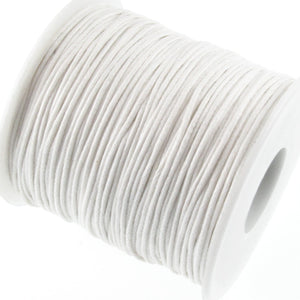 White 1mm Waxed Cotton Cord
