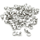 Stainless Steel #6 Ball Chain Fan Pull Loop Connectors, Silver 50/Pkg