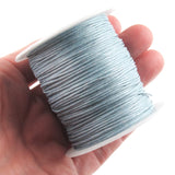 Light Blue 1mm Waxed Cotton Cord