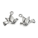 Silver Peace Dove Charms, TierraCast Pewter Bird, Animal 2/Pkg