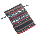 Striped Ethnic Style Fabric Drawstring Bags