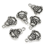 Silver Buddha Charms, Metal Double-Sided Meditation Charm 10/Pkg
