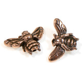Copper Honey Bee Bead, TierraCast Insect, Animal, Spring Beads 2/Pkg