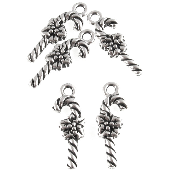 Silver Candy Cane Charms