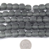 Gray Recycled Glass Beads