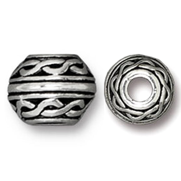 Silver Celtic 8mm Beads, Large 3mm Hole