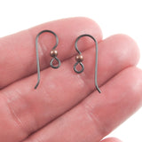 Black Niobium Ear Wires + 3mm Antique Copper Bead