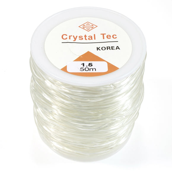 1.5mm Stretchy Clear Elastic String Beading Cord, 164 Feet/50 Meters