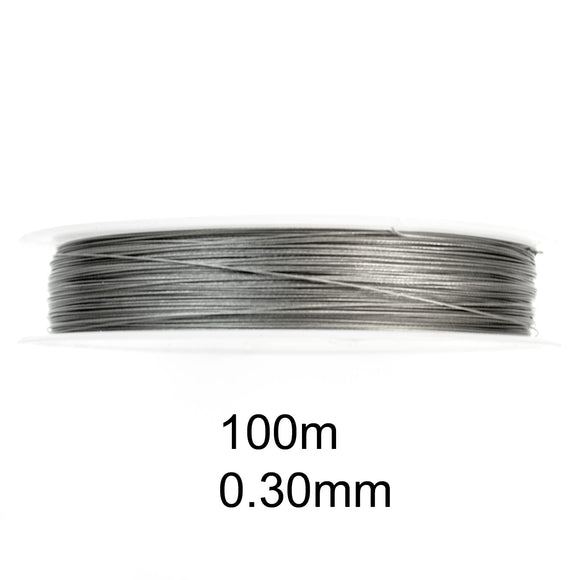 100M Tiger Tail 0.30mm, Silver Beading Wire, Jewelry Cord