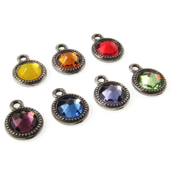 Chakra Charm Set with Swarovski Crystals
