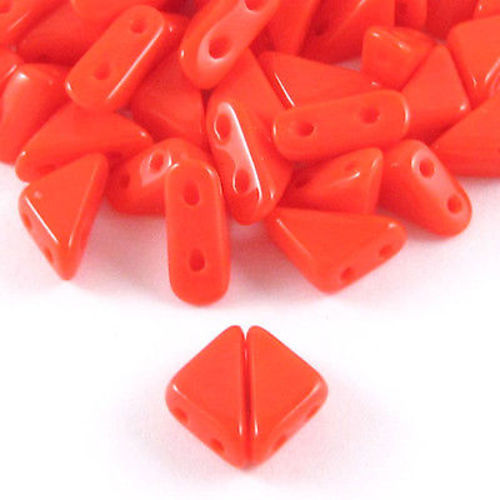 Coral Tango Triangle Beads