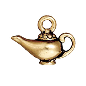 gold magic lamp charms