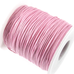 Light Pink 1mm Waxed Cotton Cord