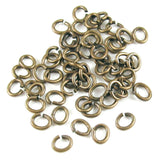 Brass Oxide Small Oval Jump Ring TierraCast 4x5mm (50 Pieces)